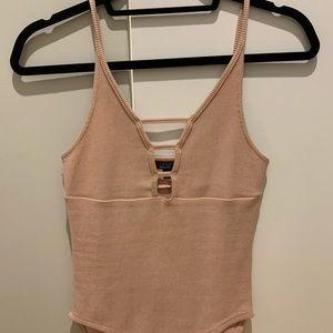 Top Shop Pale Pink Bodysuit